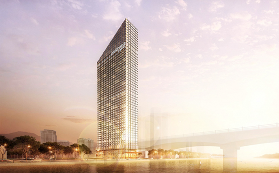 Starting installation of elevator system at Marriot project Da Nang